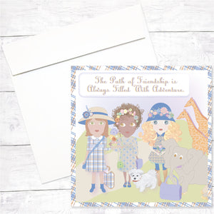 Flower Girls Greeting Card: Friendship Safari