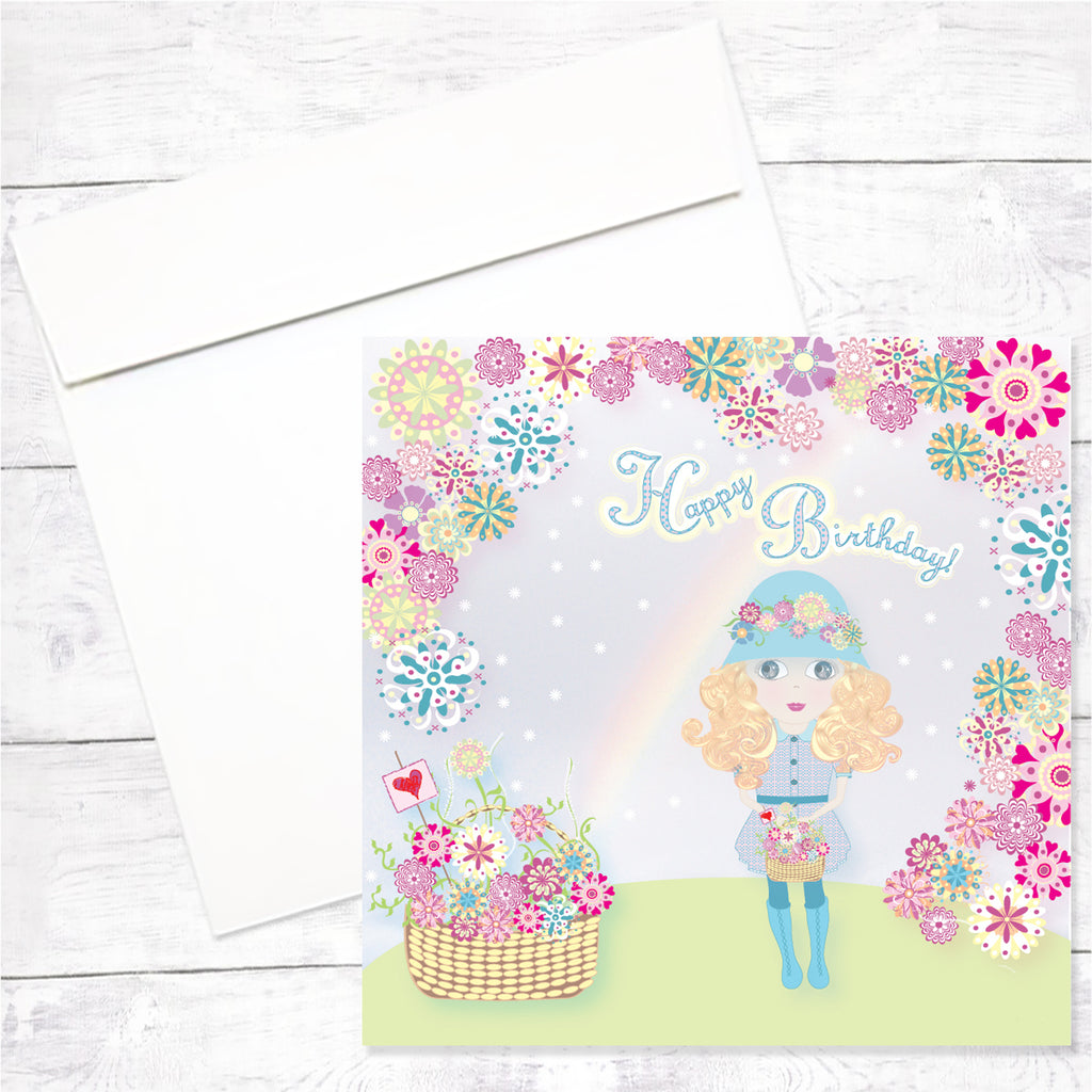 Lily Greeting Card: Happy Birthday