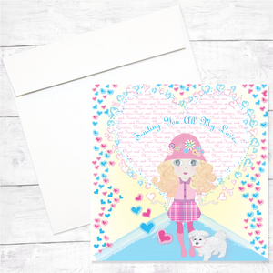 Lily Greeeting Card: Sending my Love