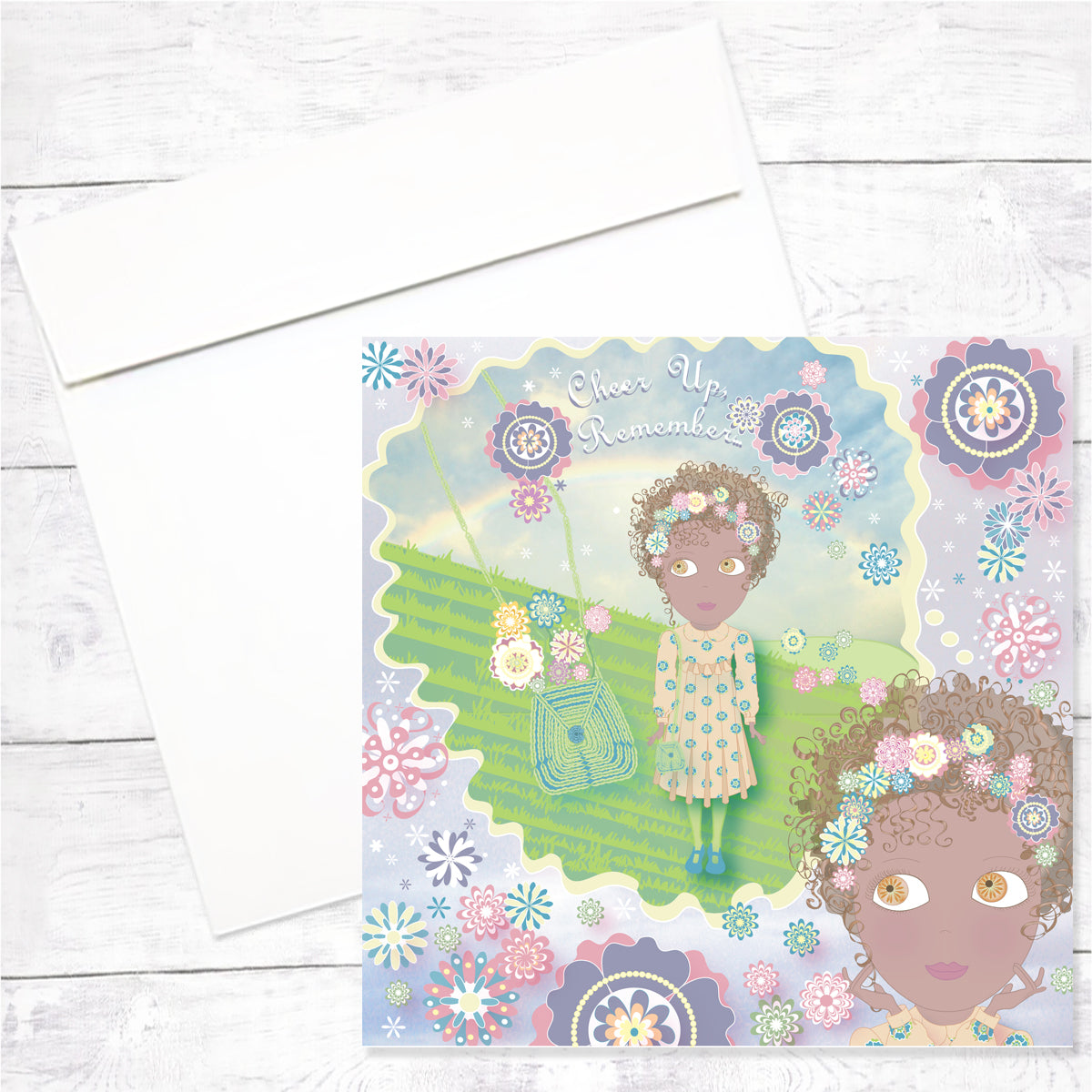 Zahara Greeting Card: Encouragement
