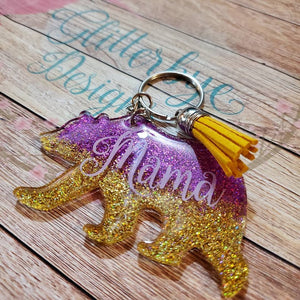 Gold and Purple mama bear