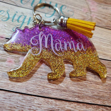 Load image into Gallery viewer, Gold and Purple mama bear