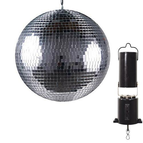 "Lightweight Mirror Ball with Revolving Motor Wedding Party Disco Dance DJ 12"" - DY Pro Audio"