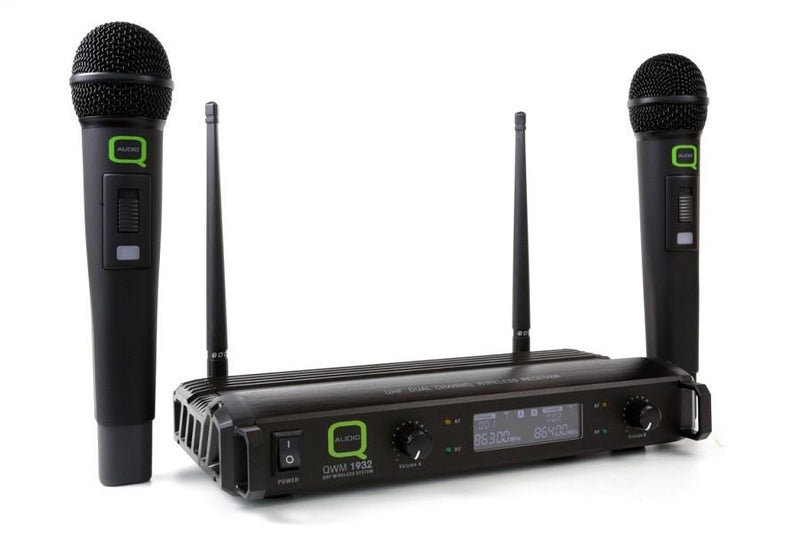 Q-Audio QWM 1932 HH UHF Wireless Microphone System - DY Pro Audio