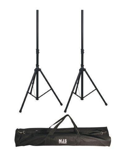 NJS Branded 35mm Adjustable Steel PA Speaker Stand Kit With Bag - DY Pro Audio