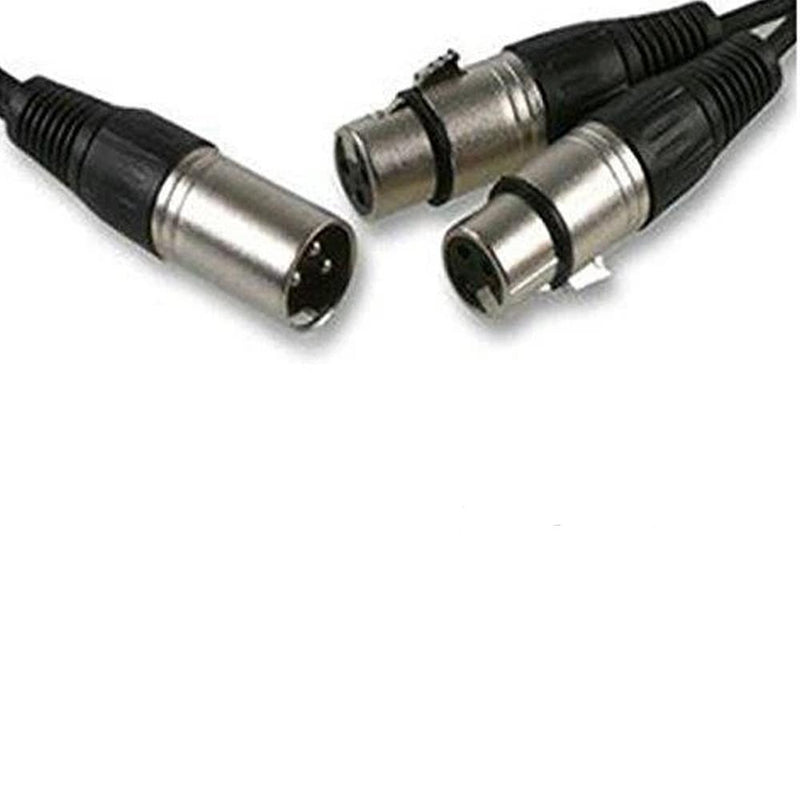 XLR SPLITTER 1.5M - 1 x MALE to 2 x FEMALE XLR CABLE - DY Pro Audio