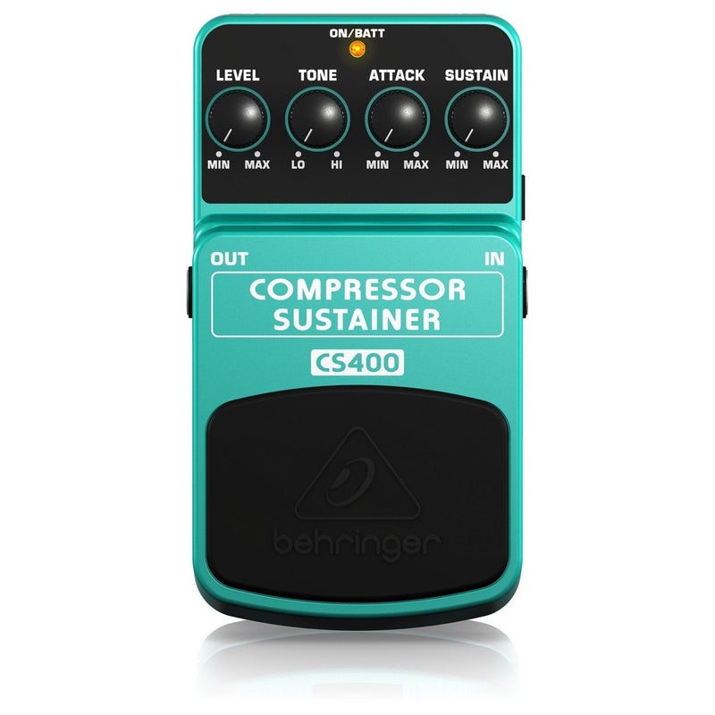 Behringer CS400 Compressor/Sustainer Guitar Effects Pedal - DY Pro Audio
