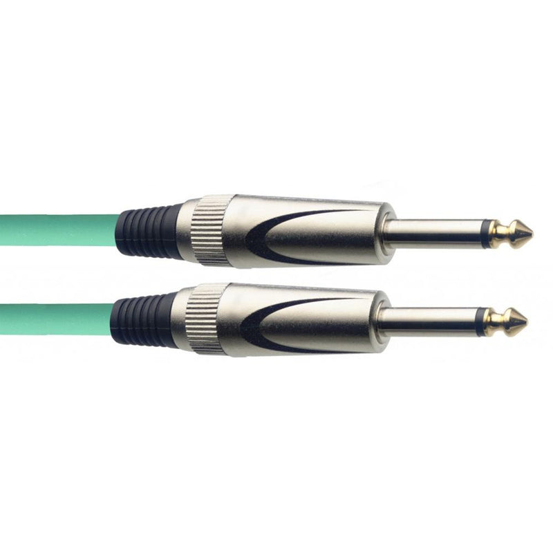 Stagg Straight Jack to Straight Jack Lead 6m Green | SGC6DL CGR - DY Pro Audio
