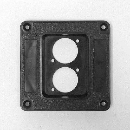 Penn Elcom Recess Dish Punched for for 2 x D-Series Connectors Plastic - DY Pro Audio