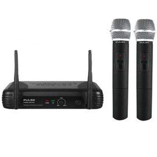 Pulse VHF Dual Wireless Handheld Microphone Mic System
