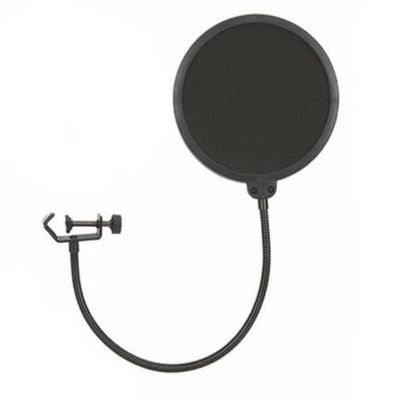 NJS Dual Layer Microphone Filter Recording Studio Wind Screen Pop Mask Shield - DY Pro Audio