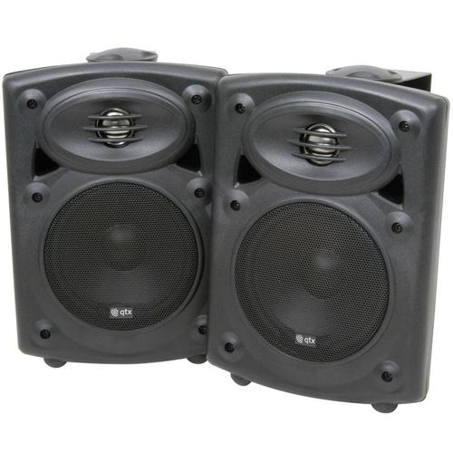 QTX Amplified Stereo Speaker System - DY Pro Audio