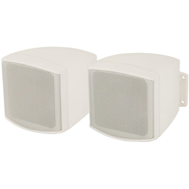ADASTRA WHITE COMPACT 100V 8 OHMS BACKGROUND SPEAKERS WITH BRACKET - DY Pro Audio