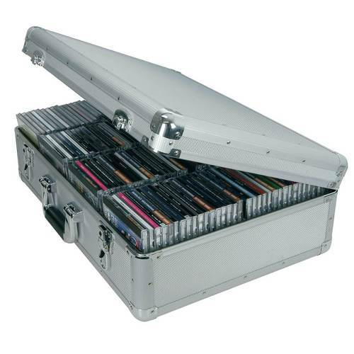 Citronic CDA120 Aluminium CD Flight Case (Holds 120 CDs) - DY Pro Audio