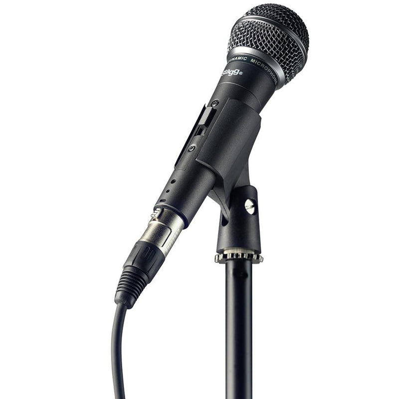 Stagg SDM50 Dynamic Microphone Set with Stand, 6m XLR Cable, Bag & Clip | SDM50 SET - DY Pro Audio