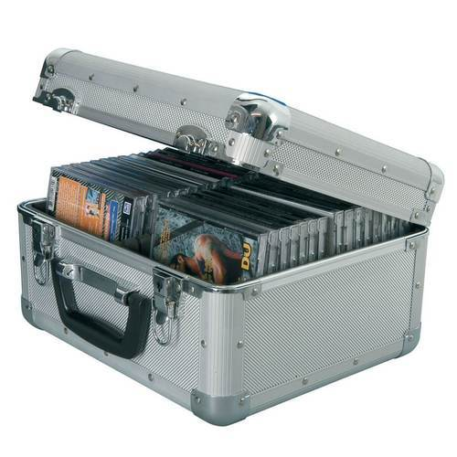 Citronic CDA:40 Aluminium CD Flight Case (Holds 40 CDs) - DY Pro Audio