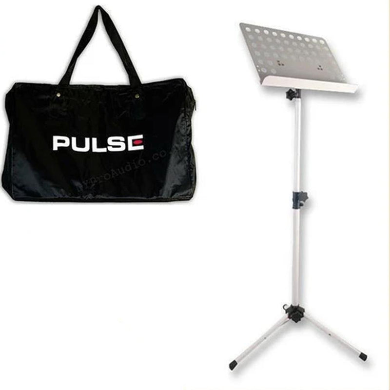 Heavy Duty Orchestral Conductor Sheet Music Stand Tripod Base White + FREE BAG