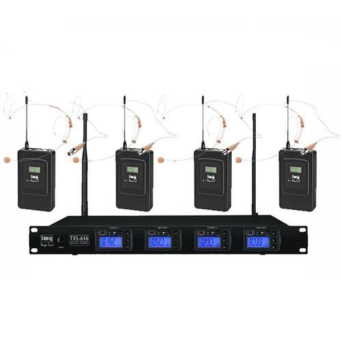 IMG Stageline TXS646 Quad Mic System Headset Kit - DY Pro Audio