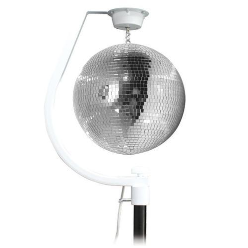 Equinox Curve Mirror Ball Hanging Bracket with Mirror Ball - DY Pro Audio