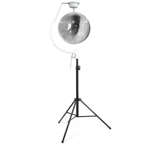 Equinox Curve Mirror Ball Hanging Bracket with Mirror Ball & Stand - DY Pro Audio