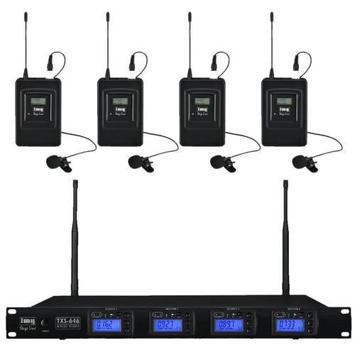 IMG Stageline TXS646 Quad Mic System Tie-Clip Set - DY Pro Audio