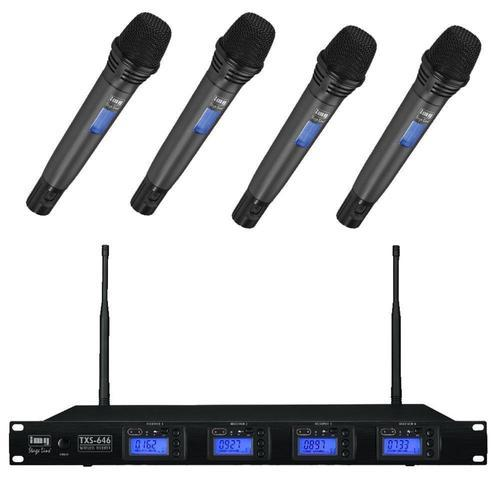 IMG Stageline TXS646 Quad Mic System Handheld - DY Pro Audio