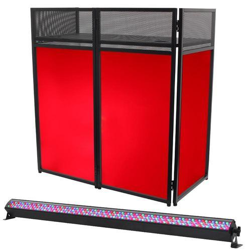 Equinox Combi Booth with 1m RGB Lighting Batten - DY Pro Audio