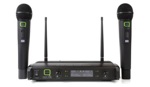 Q Audio QWM1932HH V2 Dual Handheld UHF Wireless Mic System (863.5 / 865 Mhz) - DY Pro Audio