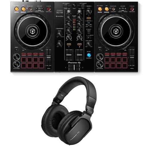 Pioneer DDJ-400 & HRM-5 Headphone Bundle - DY Pro Audio