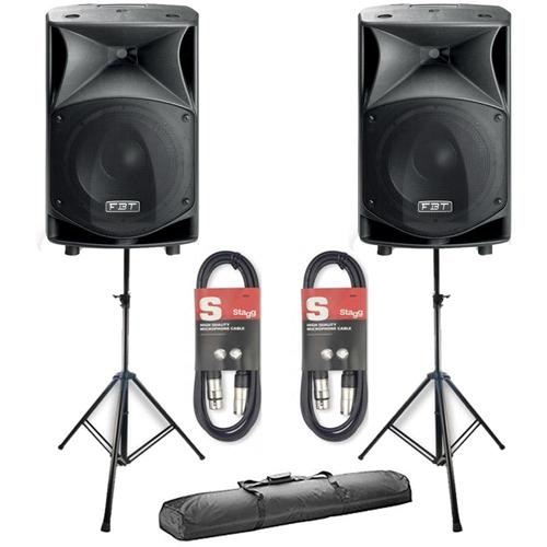 2 x FBT JMaxX 110A With Stands & Cables - DY Pro Audio
