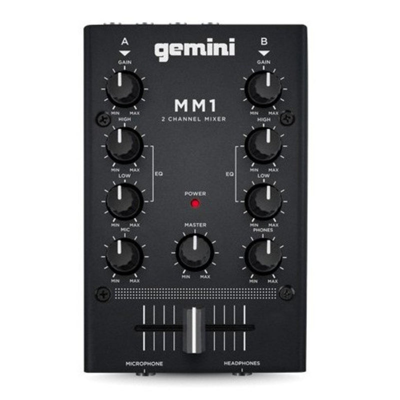 Gemini MM1 2 Channel Compact DJ Mixer - DY Pro Audio