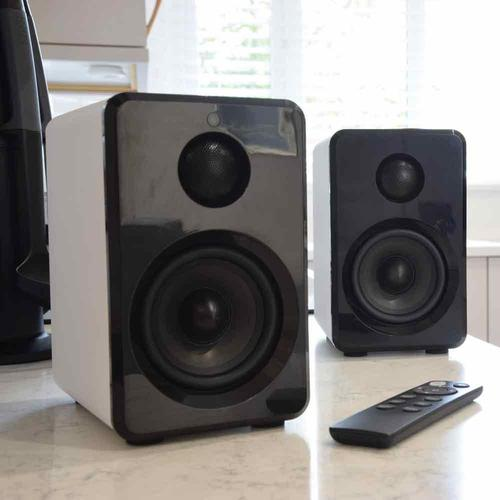 AV:Link Active Bluetooth Bookshelf Speakers White - DY Pro Audio