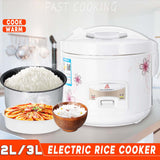warmtoo Electric Non-Stick Inner Rice Cooker 2L 3L Household Steamer Cooking Pot Kitchen Appliances Easy to Clean Durable