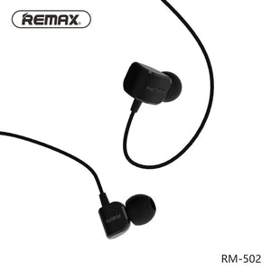 Remax RM-502 Stereo Music headphones with HD Mic in-ear 3.5mm wired Earphone For iphone Xiaomi Samsung Noise reduce headphone
