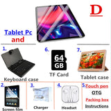 2020 New Tablet Pc 10.1 inch tablet Android 7.0 Tablets 4GB+64GB 8 Core 3g 4g LTE Phone Call pc Tablet WiFi GPS
