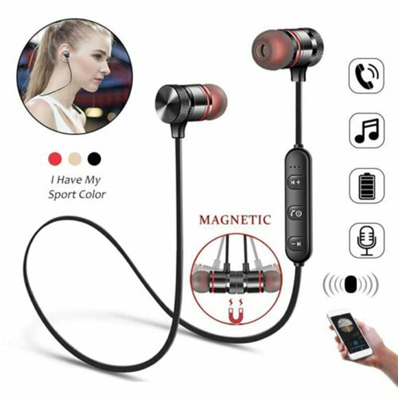 Magitenic Wireless Bluetooth Sport Earphone Earbuds Neck Hanging Headphone HiFi Stereo  Bass Noise Cancelling Headset With Mic