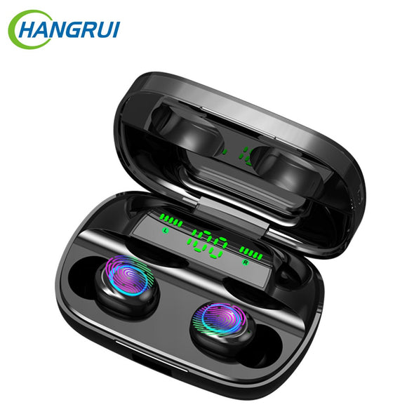 Cordless Headphone Bluetooth Earphone TWS 3500mAh Power Bank Sport In Ear Gaming Headset Noise Earbuds with Mic