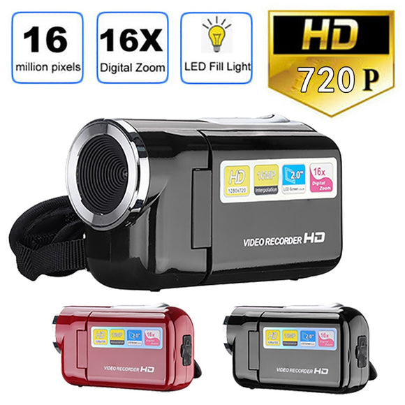 Videocámara HD 720P Handheld 16 millones de píxeles cámara Digital LED Flash 4x Zoom Digital 2,0 pulgadas 19Mar28
