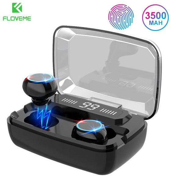 Wireless Earphones Bluetooth V5.0 TWS Wireless Bluetooth Headphones LED Display With 3500mAh Power Bank Headsets With Microphone