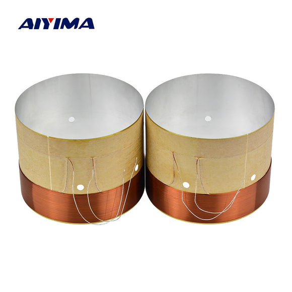 AIYIMA 2Pcs Audio Speaker Subwoofer Voice Coil 60.5mm To 65.5mm Speakers Repair Parts Accessories DIY Home Theater Sound System