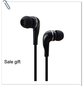 3.5mm Stereo Music In-ear Headphones Portable Noise Cancelling Earphone Wired In-Ear Headset with Microphone for Samsung S6