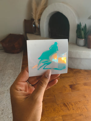 Barrel Horse Holographic Decal