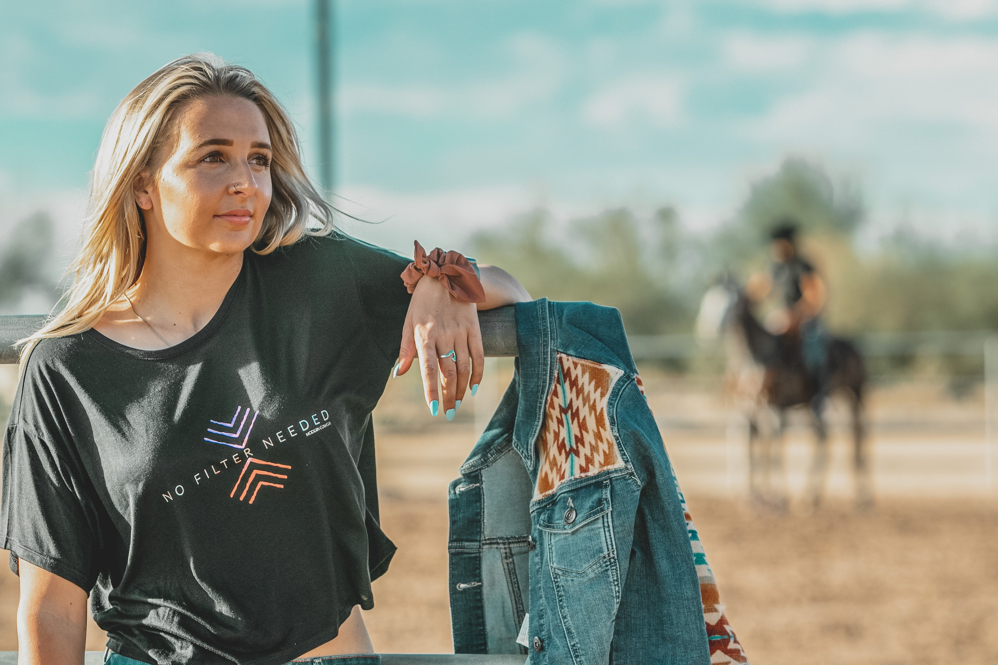 No Filter Slouchy Crop Tee - Modern Cowgirl Presets