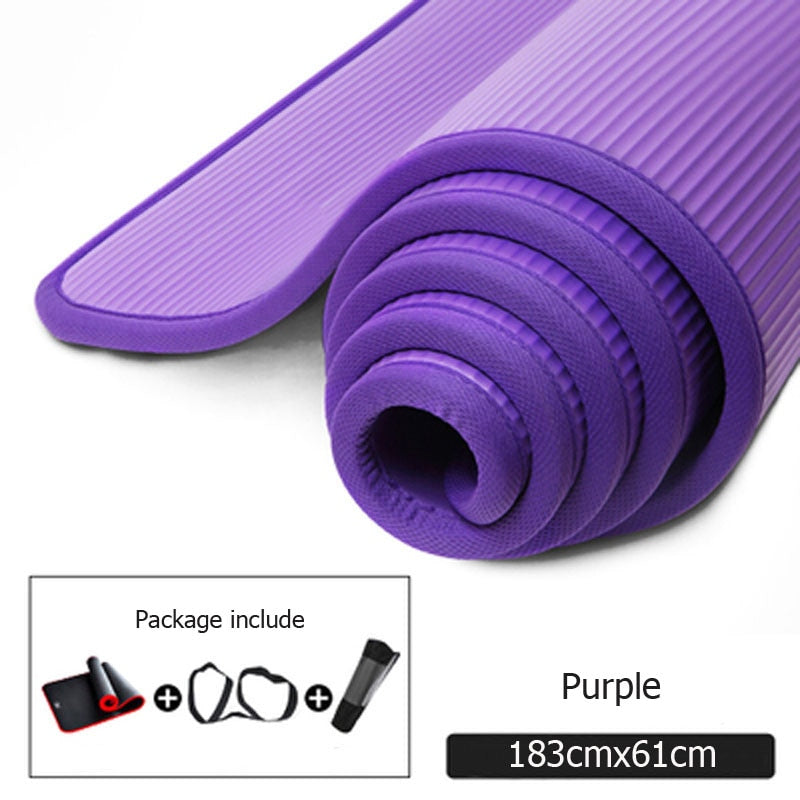 10mm Thickened Non slip Yoga Mats Tear Resistant - Gym Mist