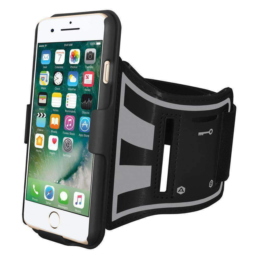 AMZER Jogging Gym Armband Workout Shellster Case For iPhone 7 Plus - Gym Mist