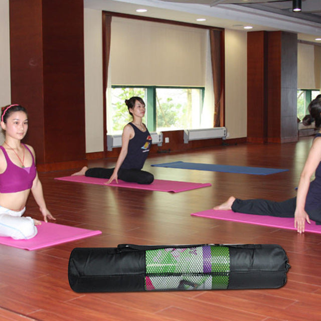 Portable Yoga Bag Pilates Mat Mesh Case Bag Oxford - Gym Mist