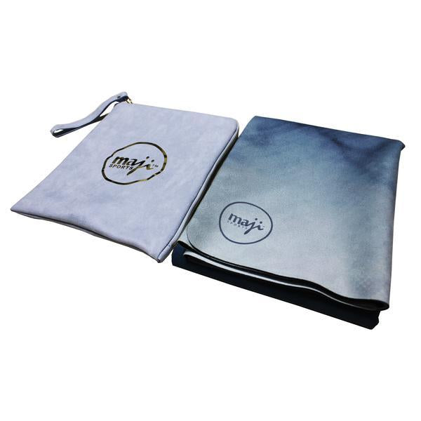 Suede & Natural Rubber Travel Yoga Mat - Gym Mist