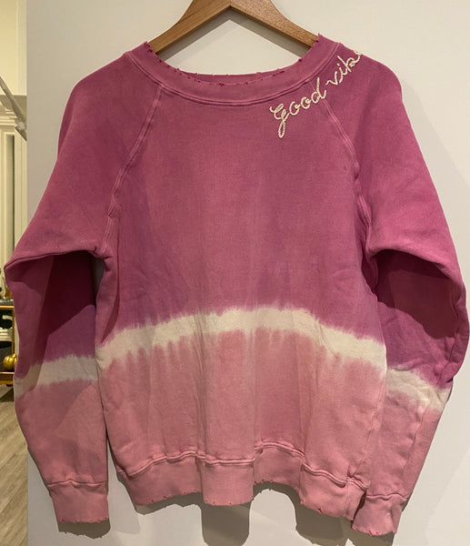 Ombré Good Vibes Sweatshirt