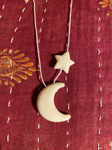 "Crescent Moon and Star ""Renaissance Fair"" Necklace"