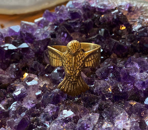 Brass Hummingbird Ring